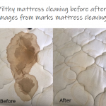 filthy mattress cleaning before after